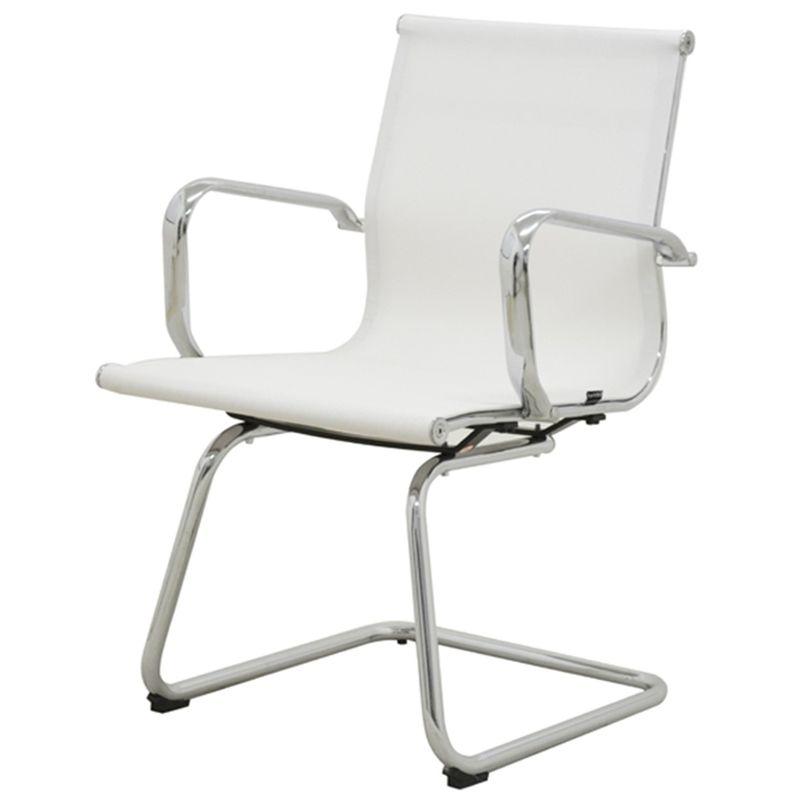 Cadeira-Sevilha-Eames-Fixa-Cromada-Tela-Branca
