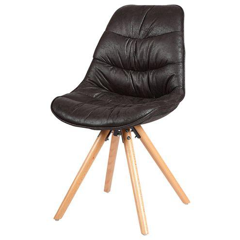 Cadeira-Eames-Foam-PU-Preto-Base-Madeira