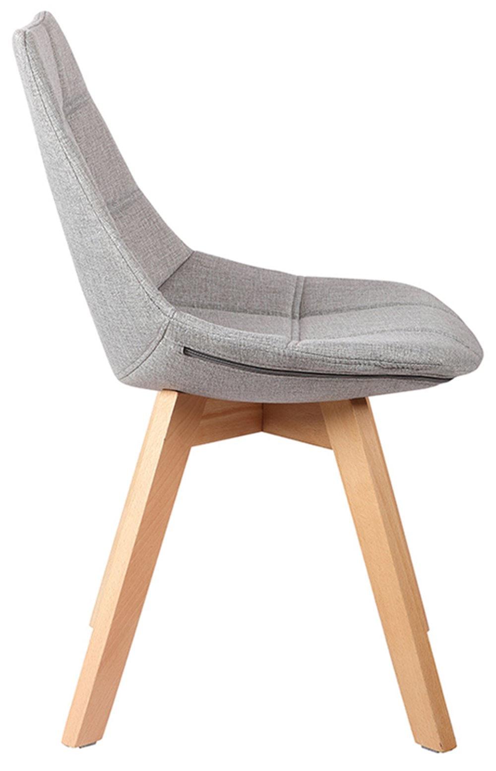 Cadeira Matela Cor Cinza Claro Base Madeira - 38082