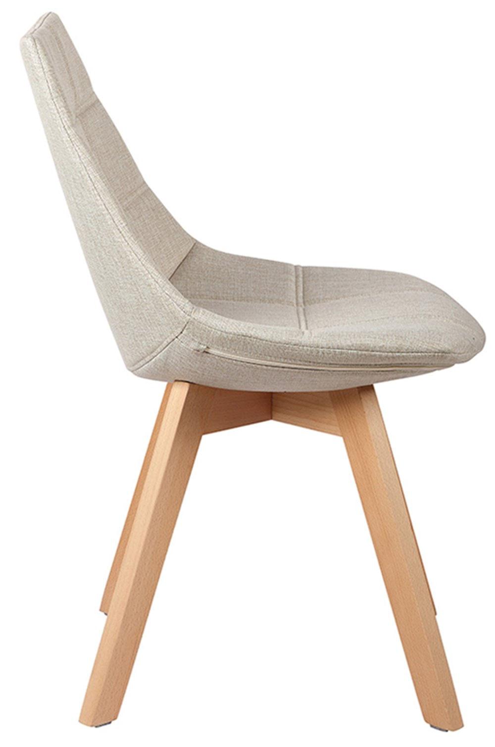 Cadeira Matela Cor Bege Base Madeira - 38085