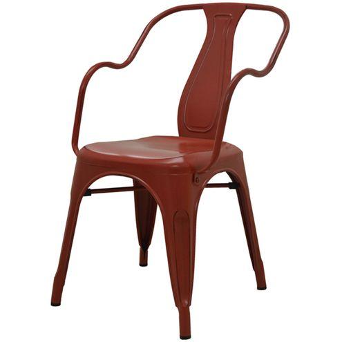 Cadeira-Tolima-Com-Braco-Vintage-Vermelho-em-Aco