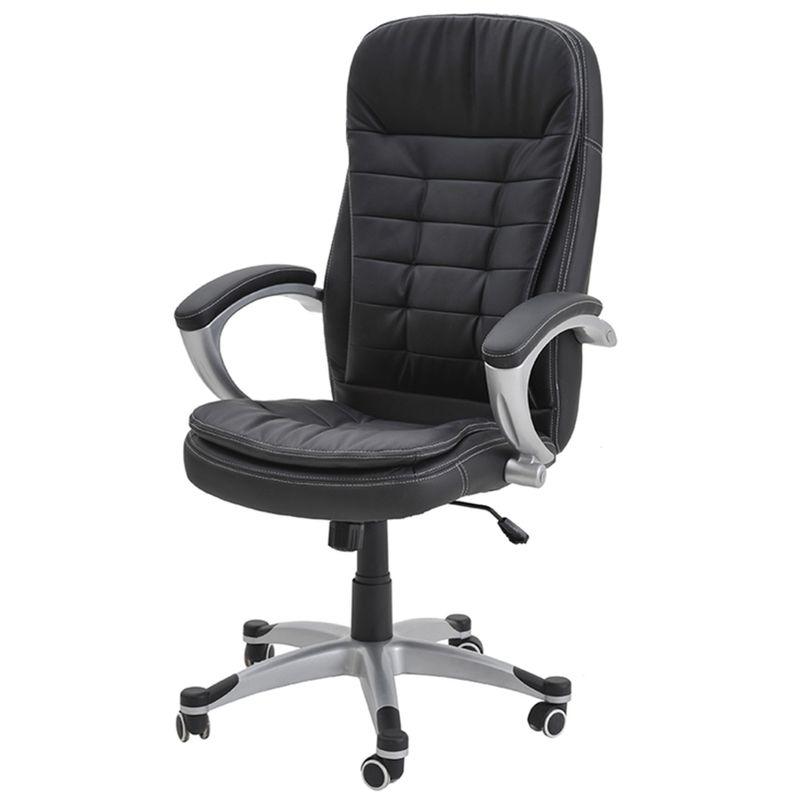 Poltrona-Mega-Comfort-Estofada-PU-Preto-Base-Nylon-