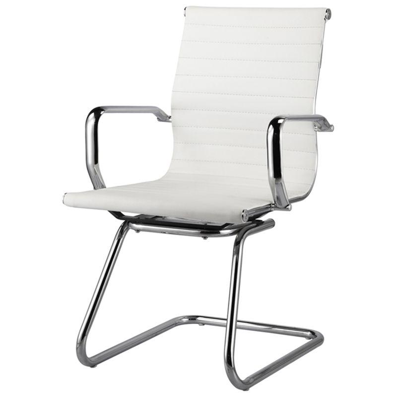 Cadeira-Sevilha-Eames-Fixa-Cromada-PU-Branco