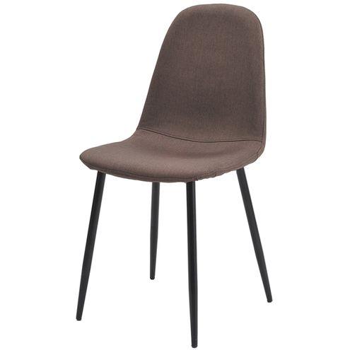 Cadeira-Jacob-Cor-Marrom-Pes-Palito-Metal-Preto