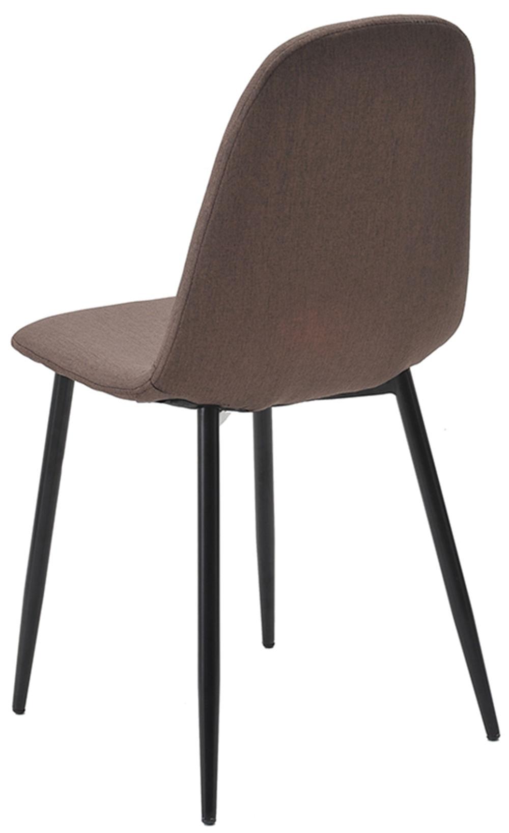 Cadeira Jacob Cor Marrom Pes Palito Metal Preto - 38242