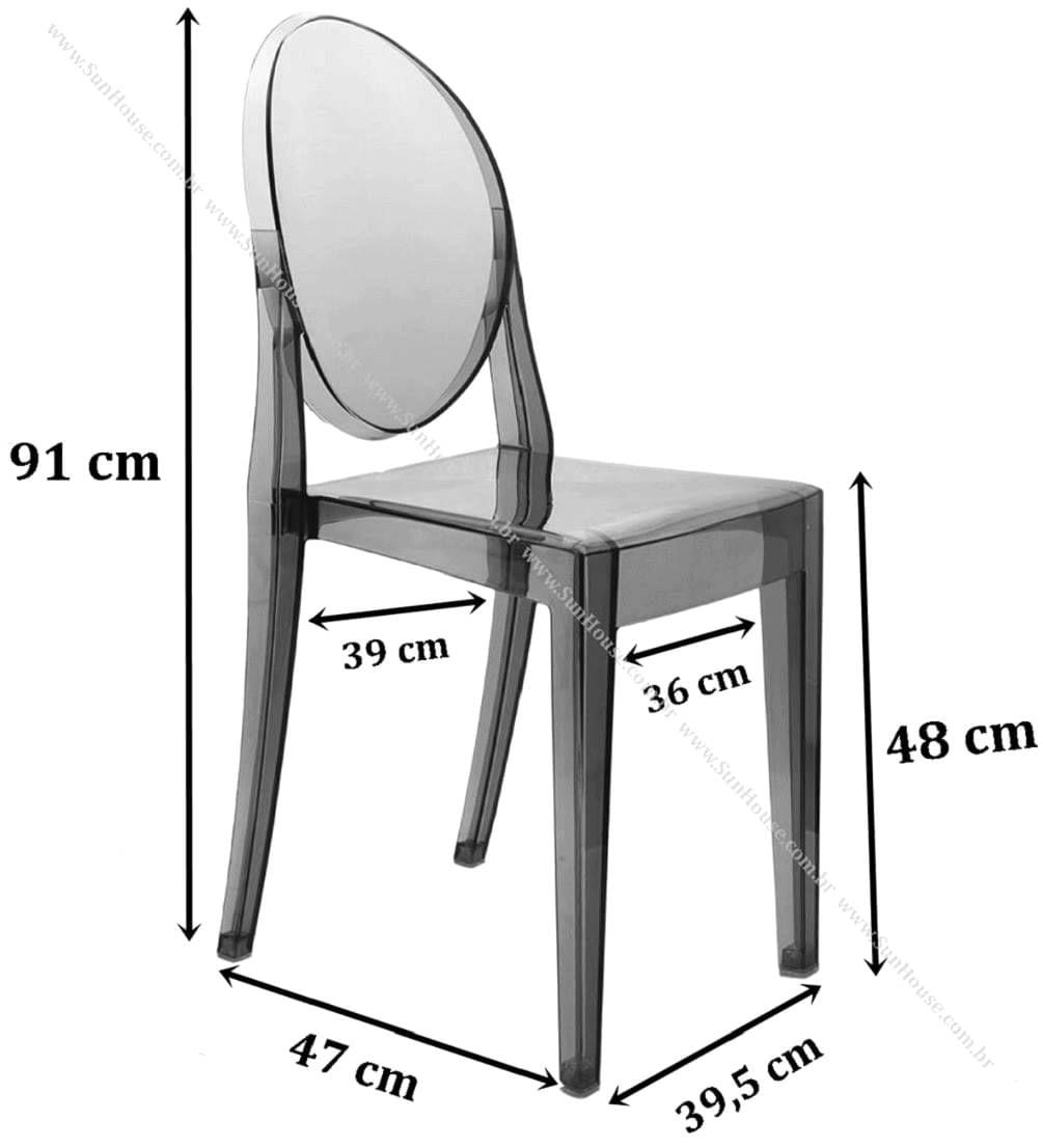 Cadeira Louis Ghost sem Braco cor Transparente - 9522