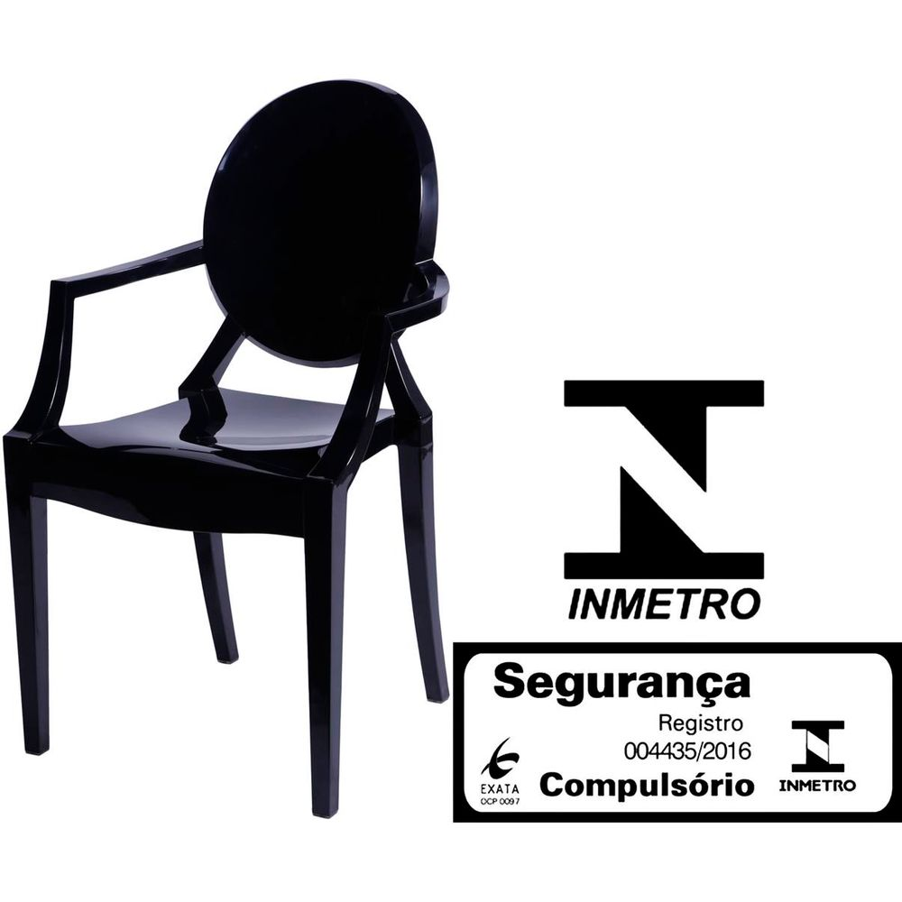 Cadeira Louis Ghost Com Braco Cor Transparente 9525 Sunhouse -> Cadeiras Acrilico Azul Turquesa