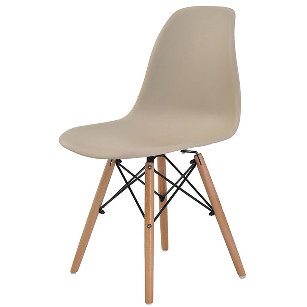 Cadeira Charles Eames Eiffel em Polipropileno Cor Nude Sem
