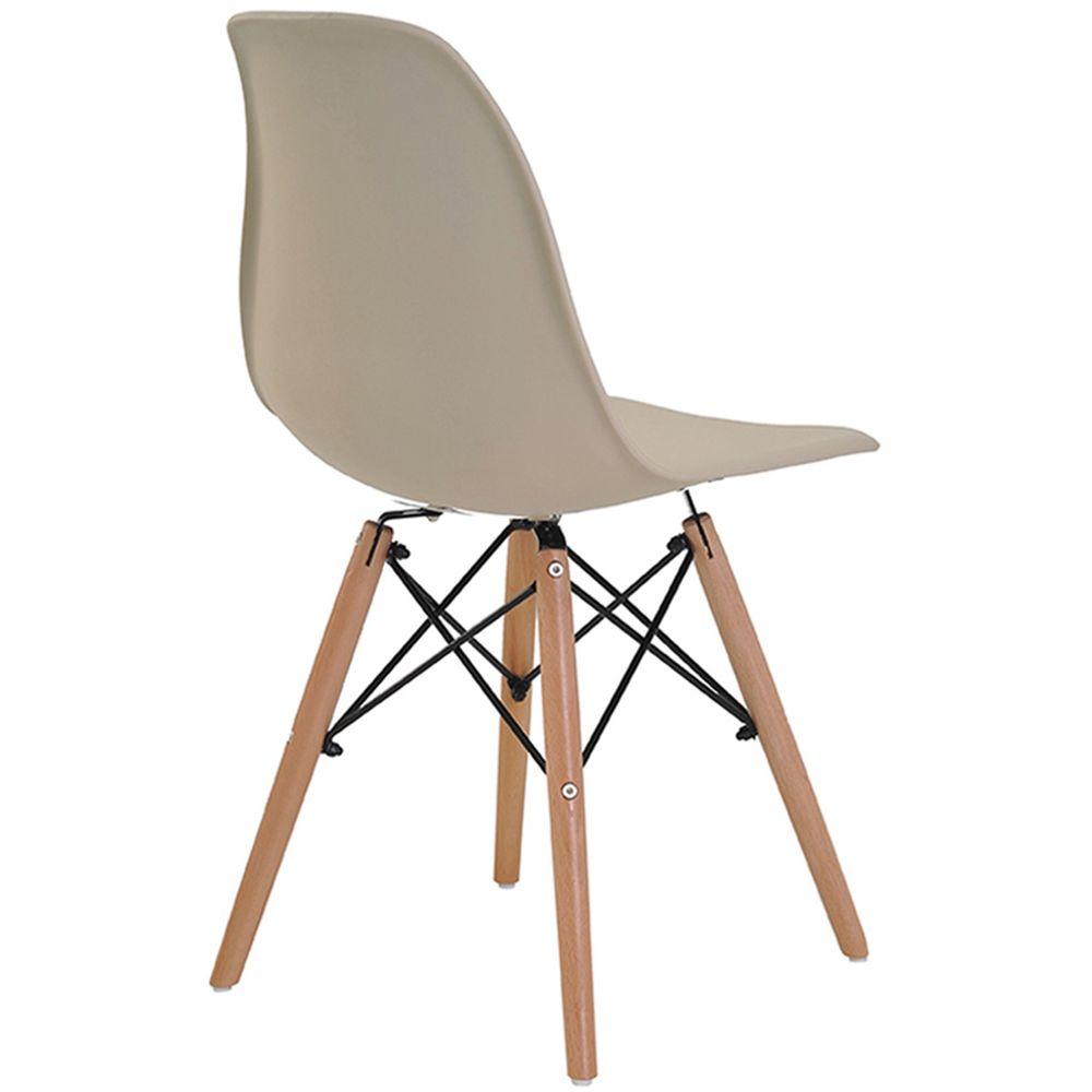 Cadeira Eames Eiffel com Braco Polipropileno Nude Base