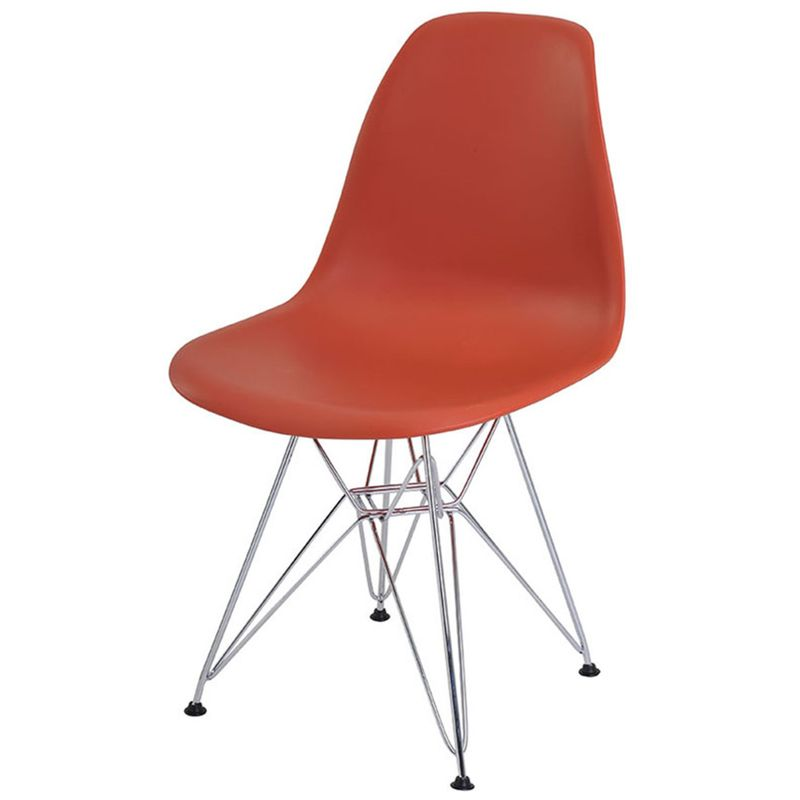 Cadeira-Eames-Eiffel-PP-Laranja-Telha-Base-Cromada