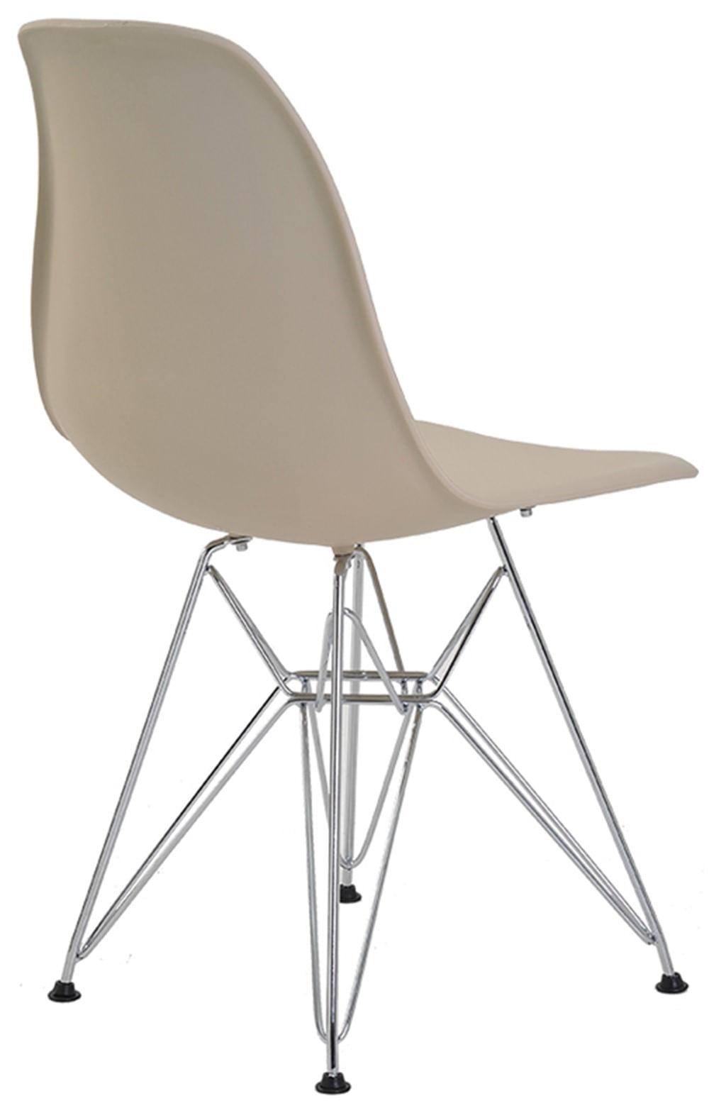 Cadeira Eames Eiffel PP Nude Base Cromada - 38581