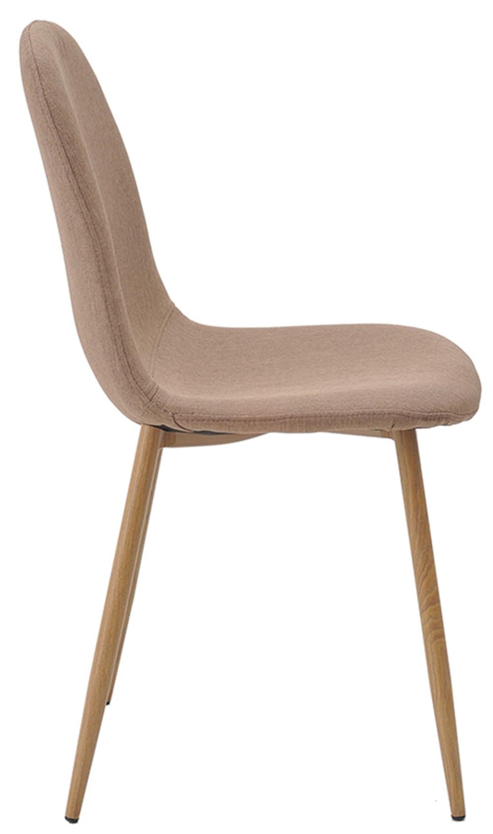Cadeira Jacob Cor Caqui Pes Palito Madeira Clara - 38587