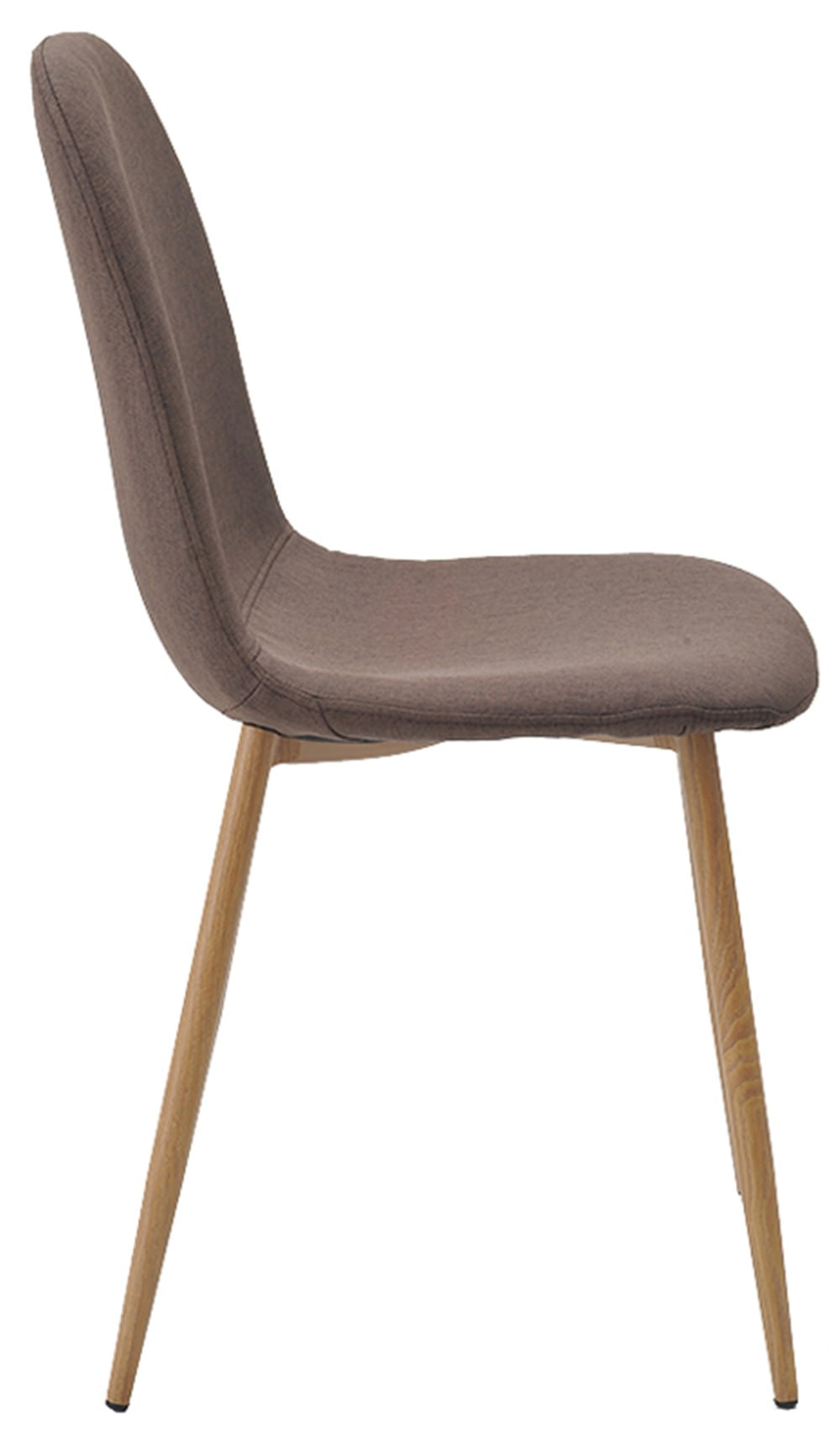 Cadeira Jacob Cor Marrom Pes Palito Madeira Clara - 38588