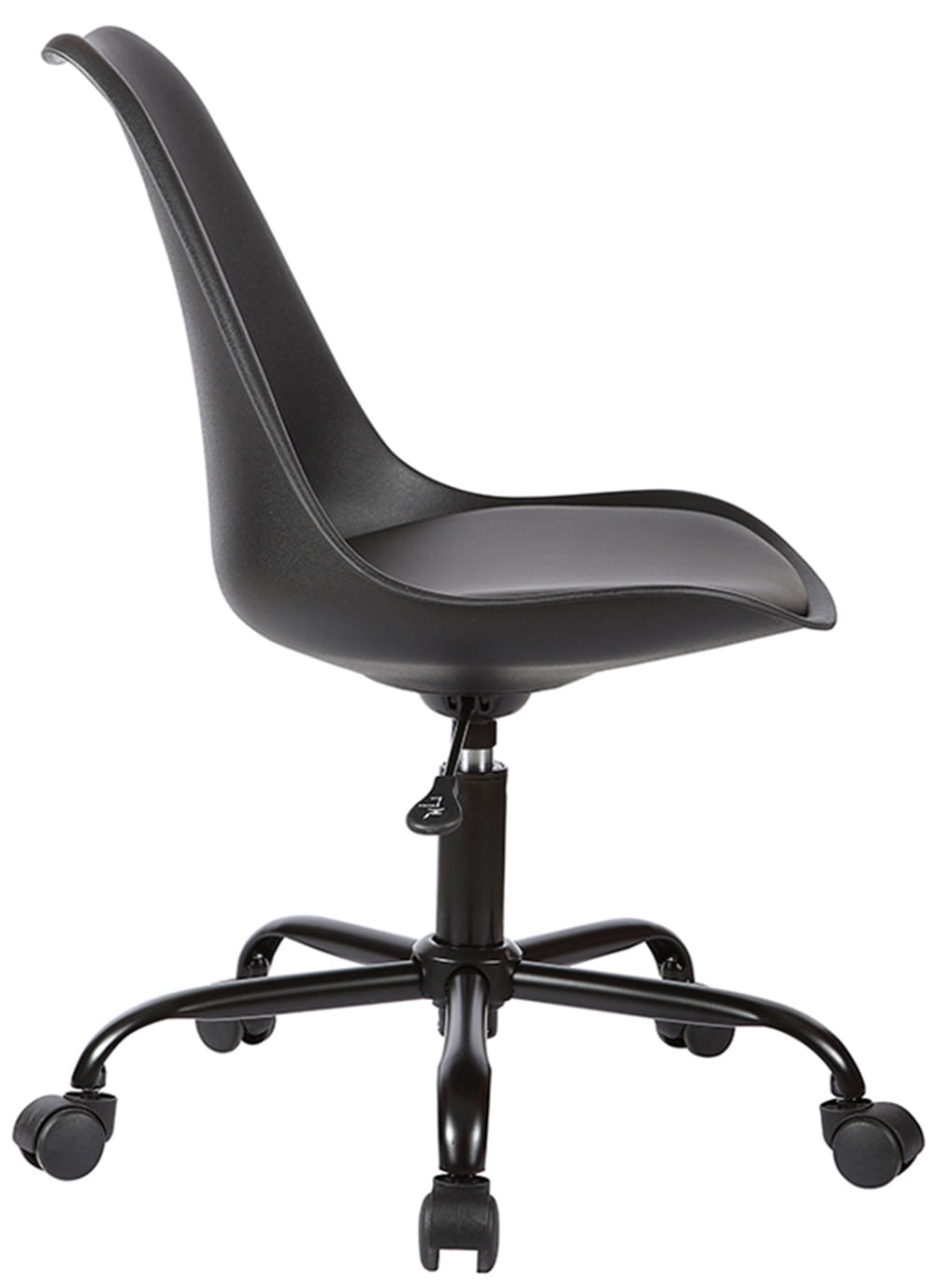 Cadeira Saarinen com Rodizios PP Preta Base Aco - 38658