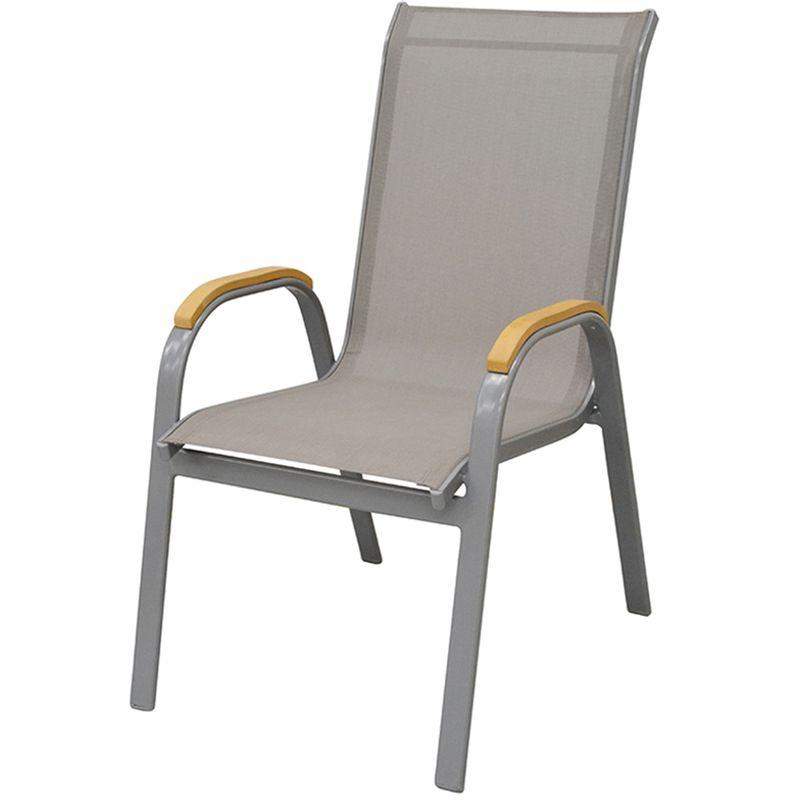 Cadeira-Juquei-com-Bracos-Tela-Cinza-Base-Cinza-
