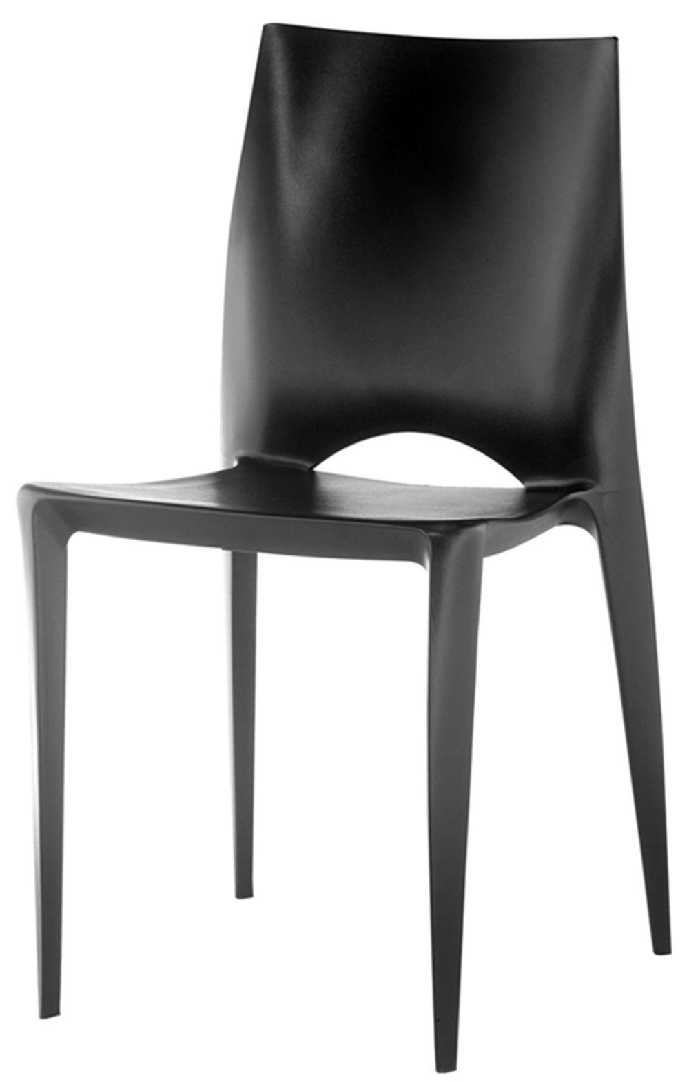 Cadeira Daiane Produzida em Polipropileno Preto - 8176