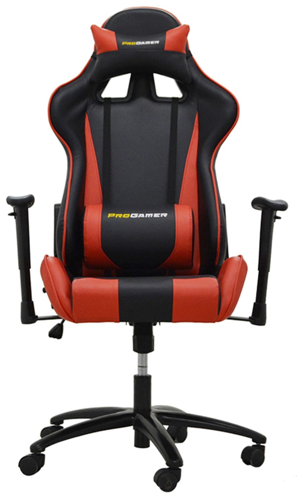 Cadeira Office Pro Gamer V2 em PU Preta e Vermelha - 27709