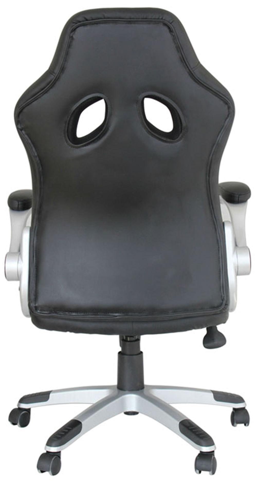 Cadeira Office Speed Preta e Prata - 34461