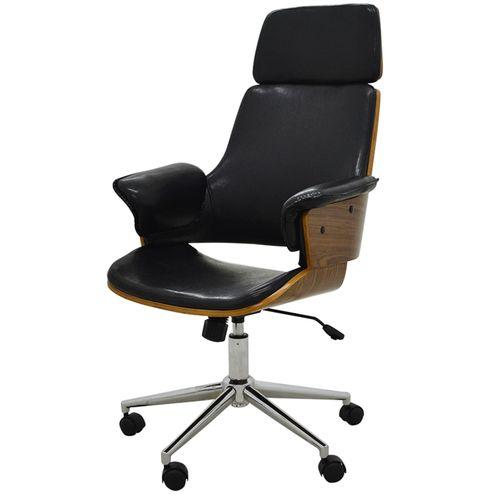 Cadeira-Office-Coimbra-PU-Preto-Brilho-Base-Cromada