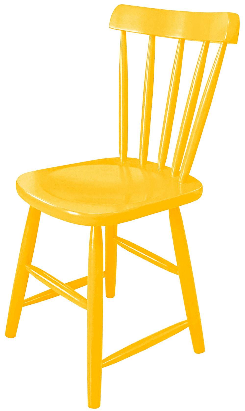 Cadeira Skand Assento Escavado Cor Amarela - 33362