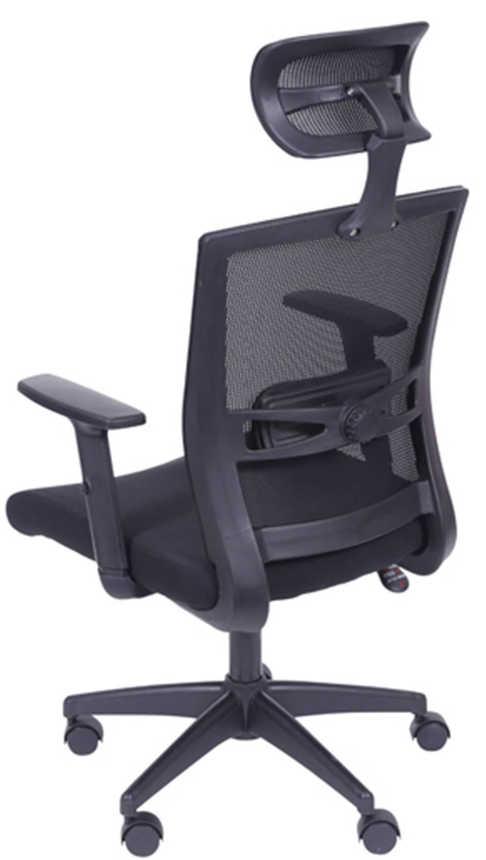 Cadeira Office Regulavel Tela com Tecido Mesh Preta Base Nylon - 39218