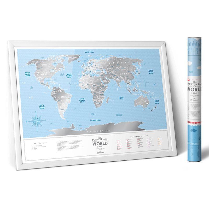MapaMundideViagensRaspavelSilverWorldPrata