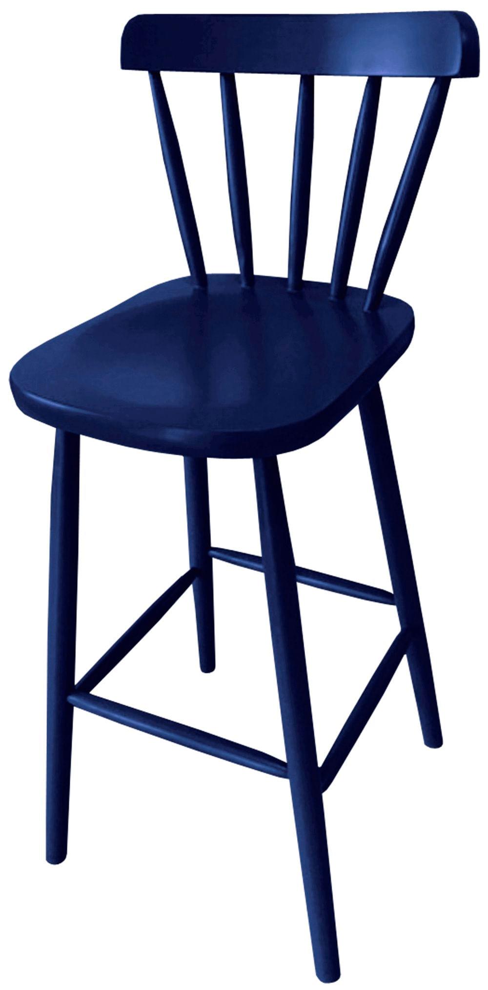 Banqueta Skand Assento Escavado Cor Azul 72 cm (ALT) - 33371