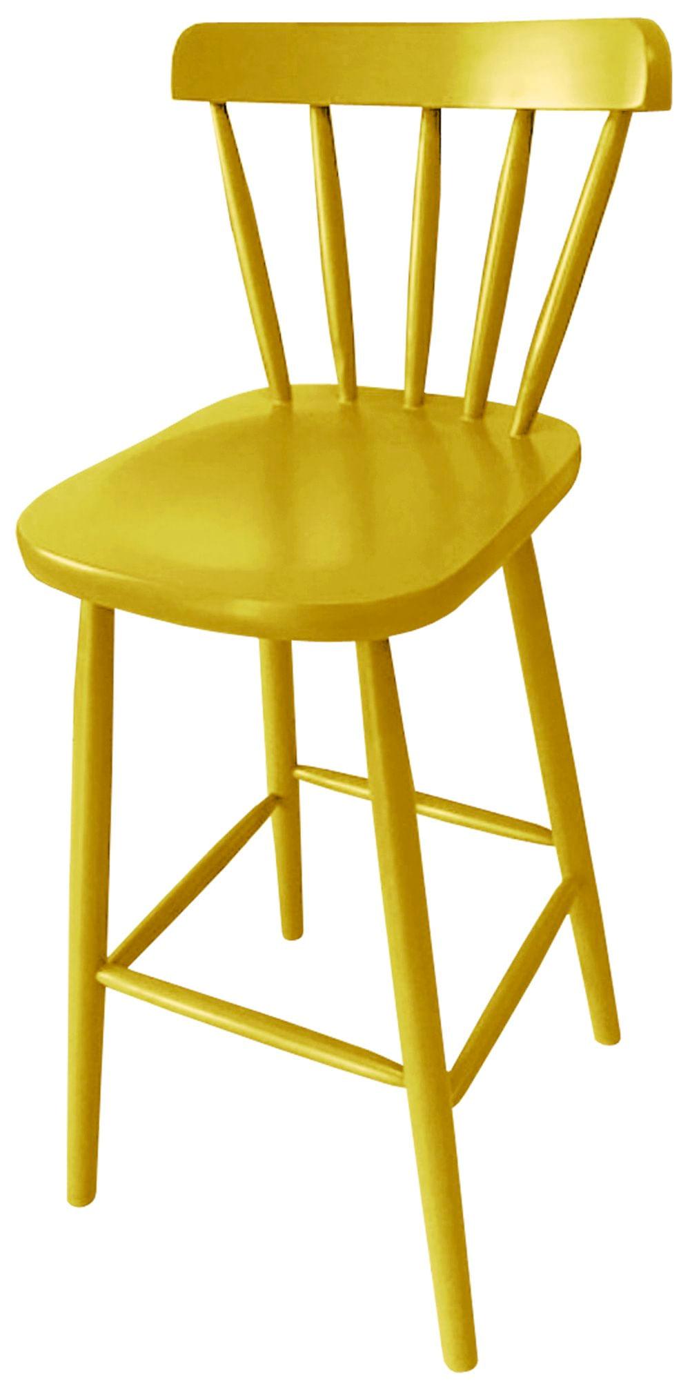 Banqueta Skand Assento Escavado Cor Amarela 72 cm (ALT) - 33372