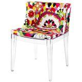 Cadeira-Mademoiselle-Estampa-Floral-Rosas-Base-Transparente