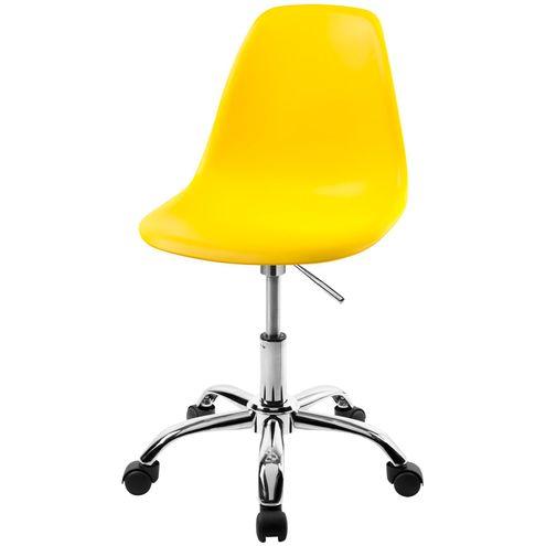 Cadeira-DKR-Eames-Polipropileno-Amarelo-Base-Cromada-Rodizios