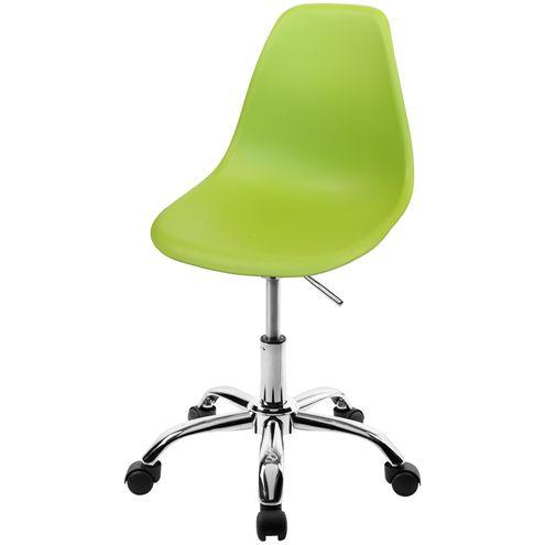 Cadeira-DKR-Eames-Polipropileno-Verde-Base-Cromada-Rodizios