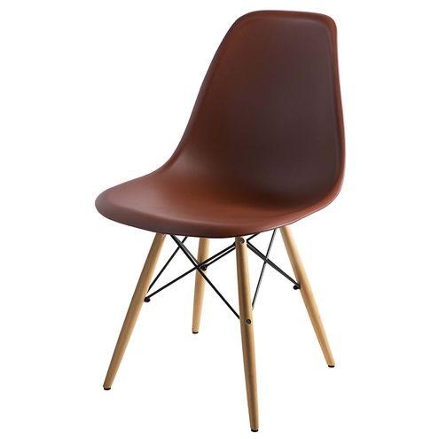Cadeira-DKR-Eames-Polipropileno-Marrom-Base-Madeira