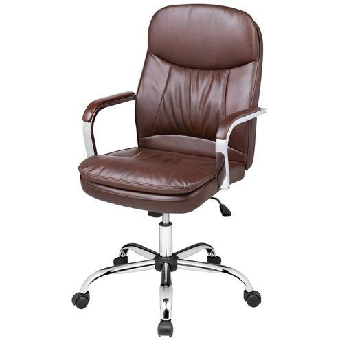 Cadeira-Office-Nantes-Baixa-PU-Marrom-Base-Cromada