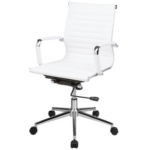 Cadeira-Eames-Office-Baixa-PU-Branco-Base-Cromada