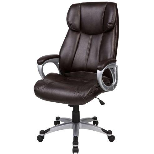 Cadeira-de-Escritorio-Hug-em-PU-Marrom-Cafe-Base-Nylon-Cinza