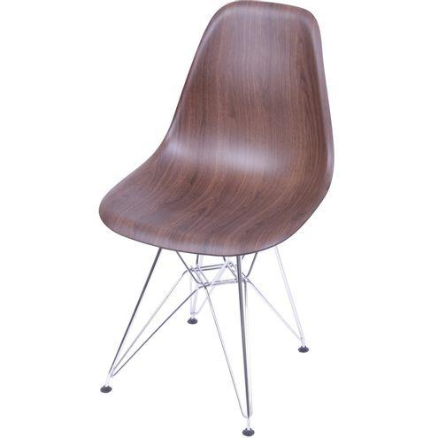 Cadeira-Eames-Polipropileno-Amadeirado-Escuro-Cromada---40597