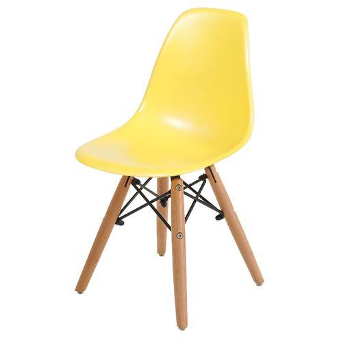 Cadeira-INFANTIL-DKR-Amarelo-com-Base-Madeira---40606