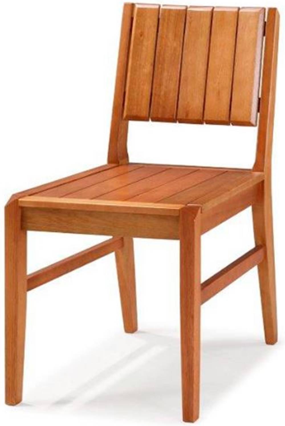 Cadeira Salvador Verniz Jatoba Encosto Ripado 43cm - 40725