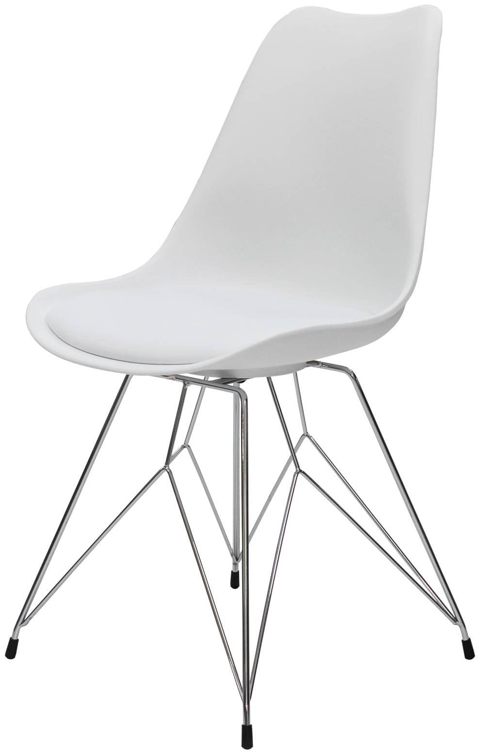 Cadeira Eames Premium com Almofada Branca Base Torre - 40902