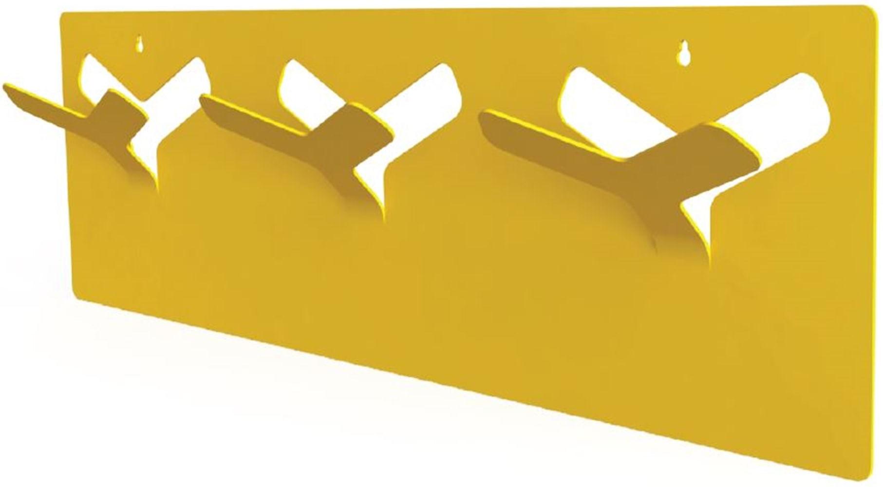 Cabideiro Asadelta Estrutura Aco Pintado Amarelo 65 cm (LARG) - 40672