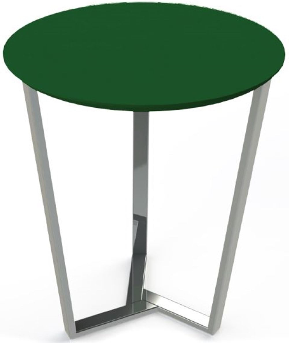 Mesa Lateral Cacto MDF Verde Estrutura Cromada 50 cm (LARG) - 40806