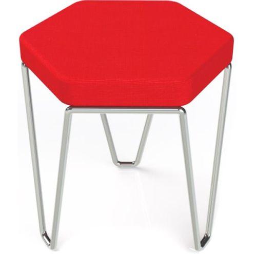 Banco-Hexagon-Vermelho-Estrutura-Cromada-45-cm--LARG----41033