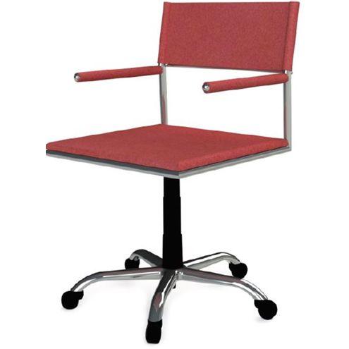 Cadeira-Escritorio-Elegante-Vermelha-Base-Cromada-Rodizios---41036