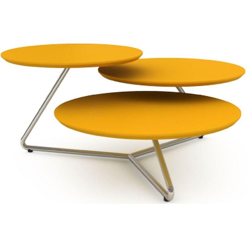 Mesa-Centro-Baittom-MDF-Amarelo-Estrutura-Cromada-82-cm--LARG----41114