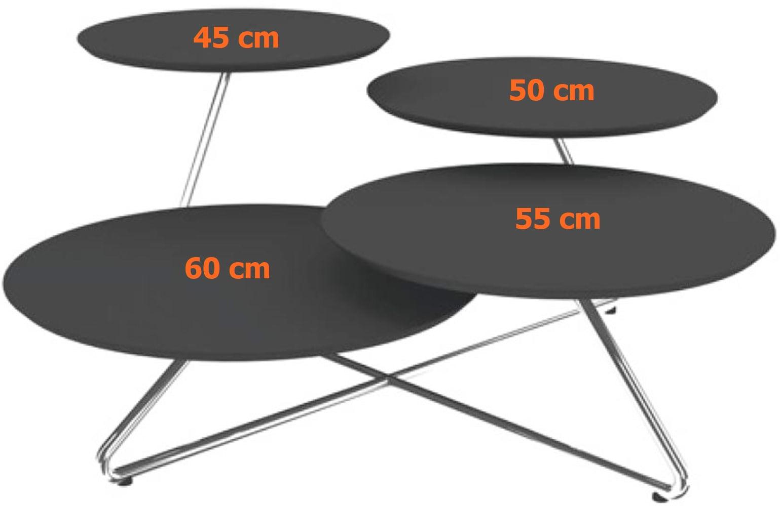 Mesa Centro Bottom MDF Preto Estrutura Cromada 72 cm (LARG) - 35882