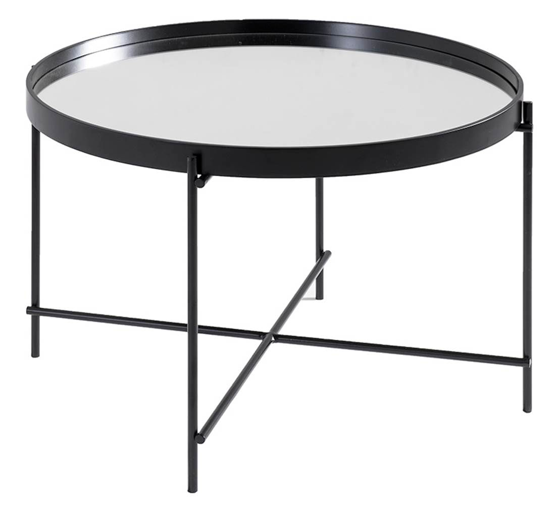 Mesa Centro Volpi Alta Preta Espelho 62,50 cm (LARG) - 41617