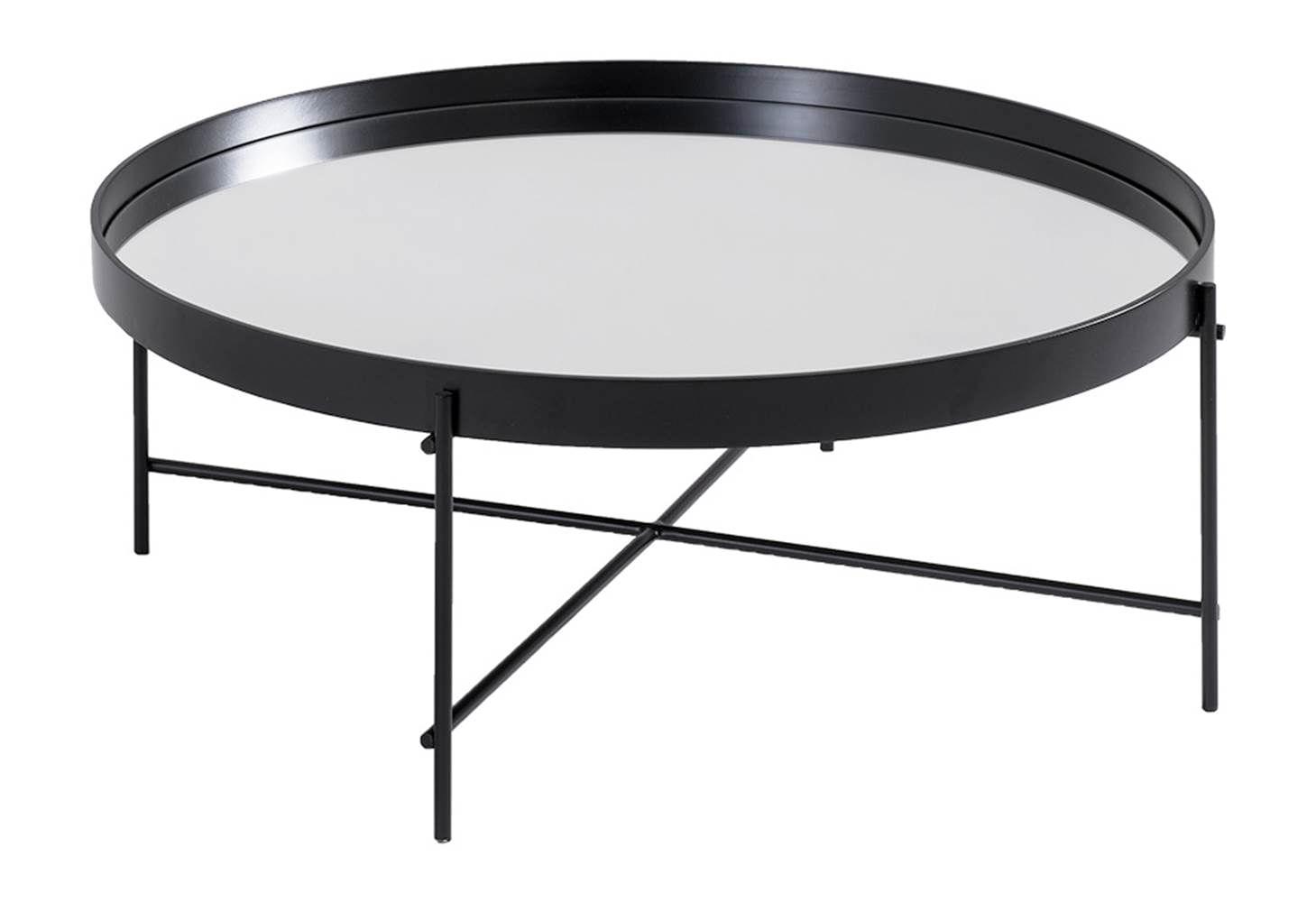 Mesa Centro Volpi Baixa Preta Espelho 78,50 cm (LARG) - 41619