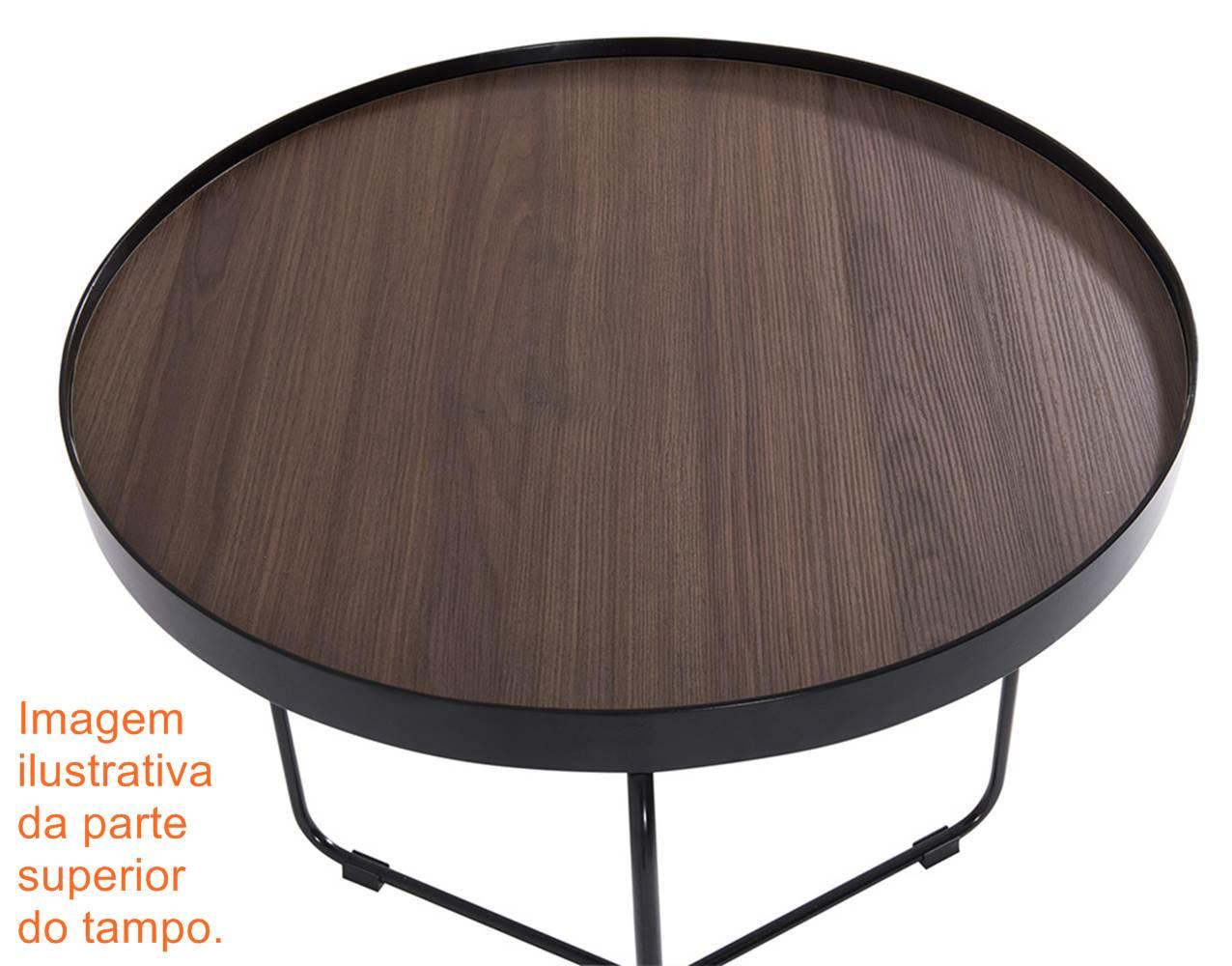 Mesa Lateral Kevin Baixa Castanho Bronze 61 cm (LARG) - 42034