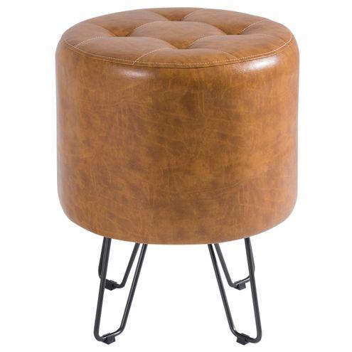 Puff-Bastone-PU-Caramelo-Shine-Base-Aco-Bruto---40495
