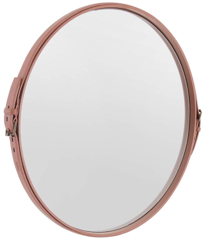 Espelho Fontenelle Couro Terracota 60 cm (LARG) - 40466